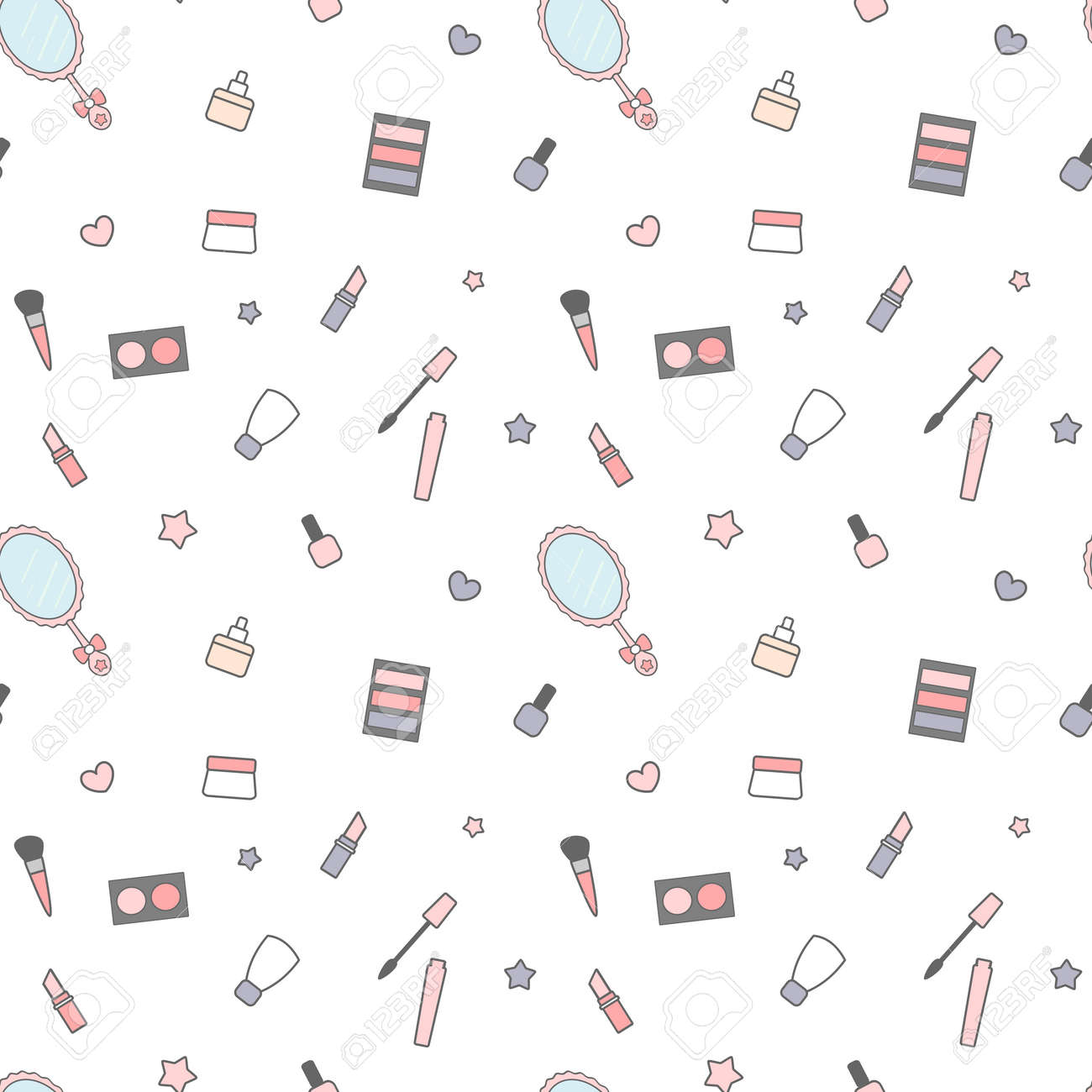Beautiful Cartoon Makeup Wallpaper - 77083161-cute-cartoon-beauty-vector-background-pattern-illustration-seamless-mix-with-cream-make-up-mirror-an  You Should Have_365965.jpg