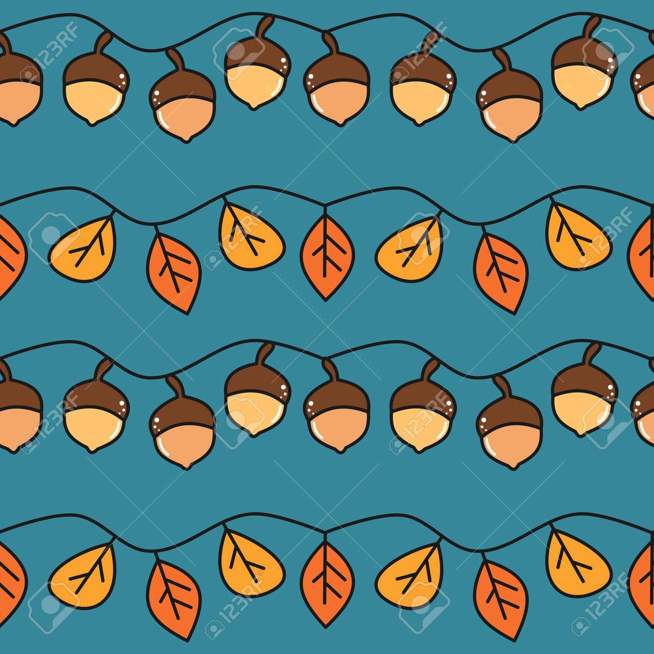 cute fall autumn seamless vector pattern background illustration