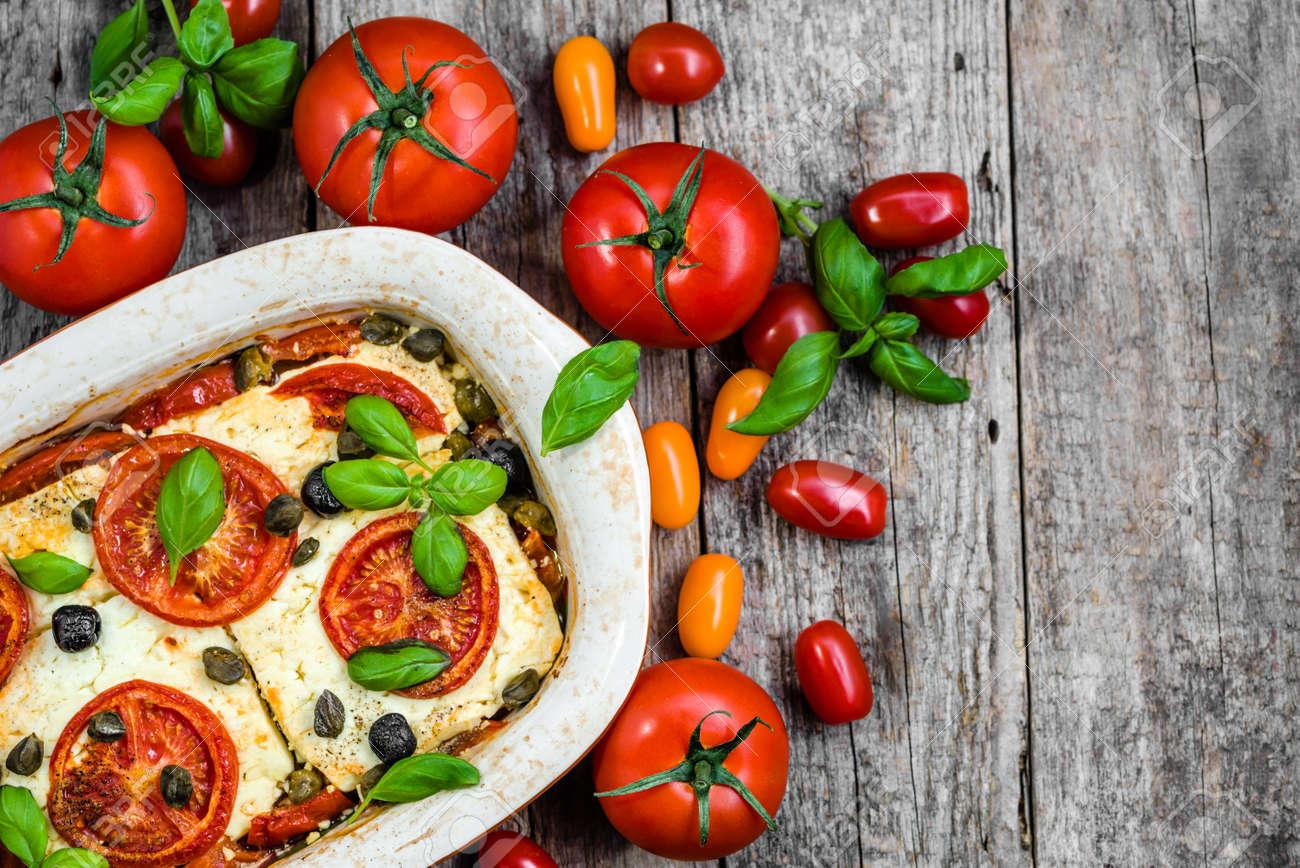 Vegetarian Food Plate Greek Cuisine Of Mediterranean Diet Healthy Eating Cooking Concept Stock