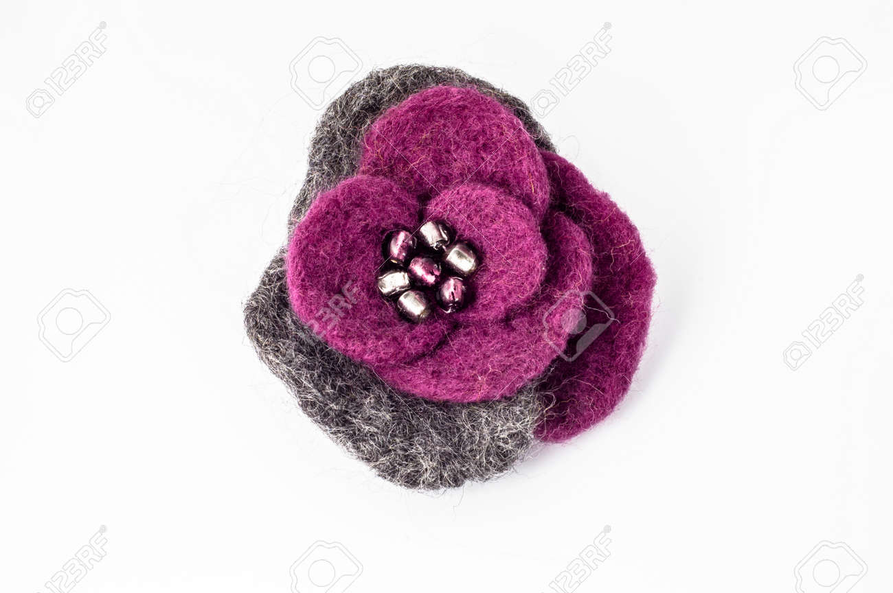 ltd felt enterprises single products violet brooch wakefield hepworth the rhubarb