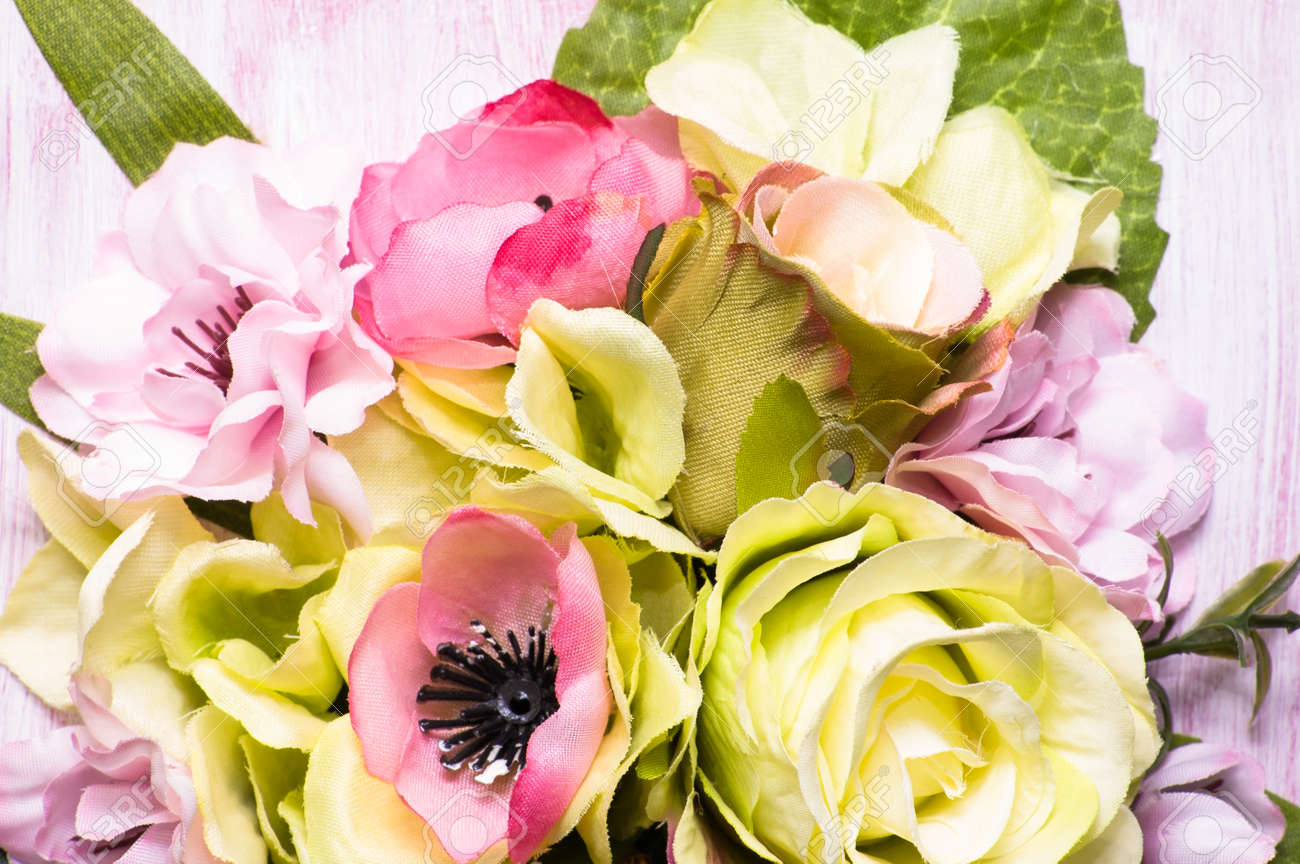 Mothers Day Flowers Background Closeup Stock Photo