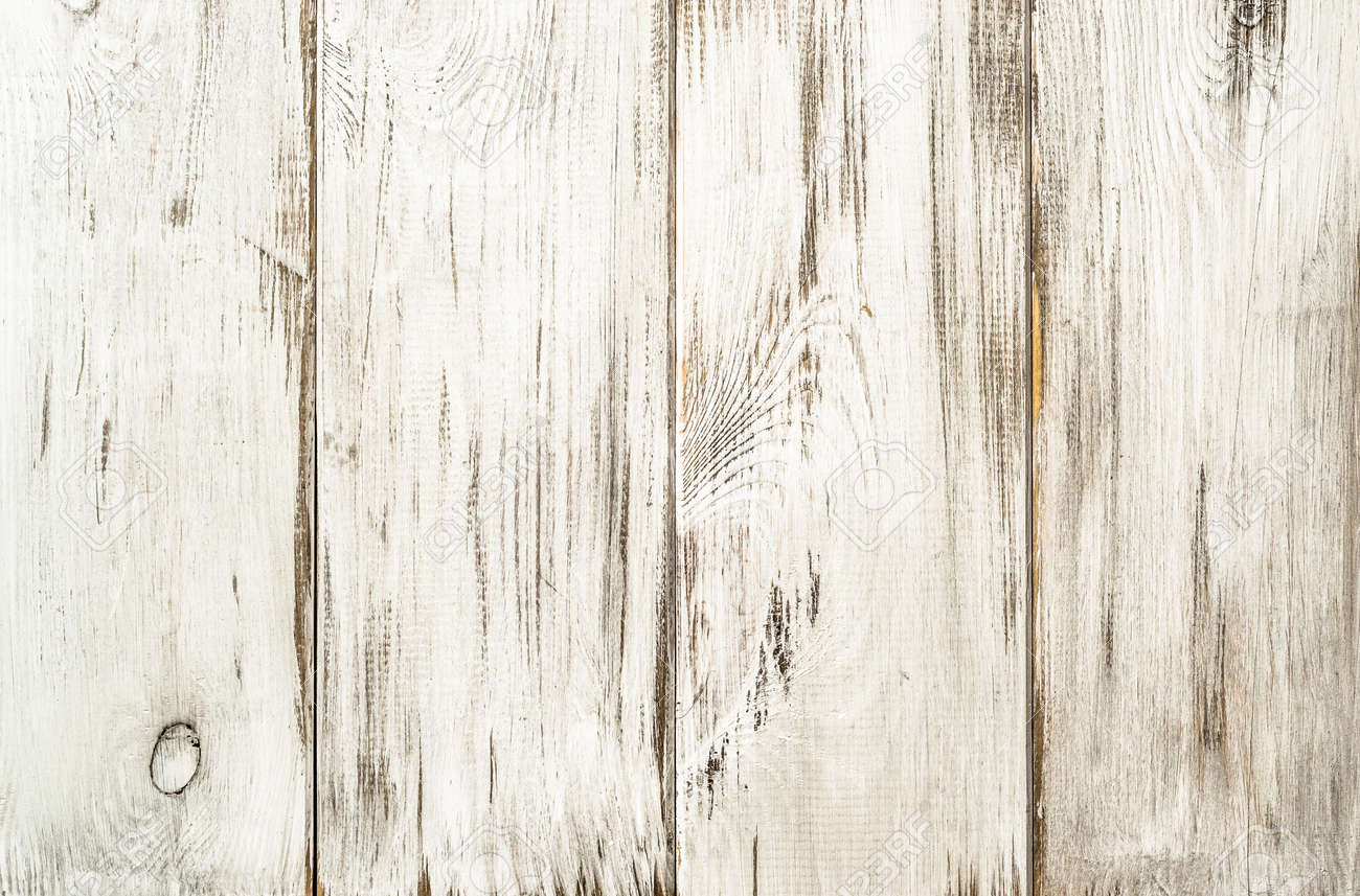 White wood background texture from wooden planks. - 93552471