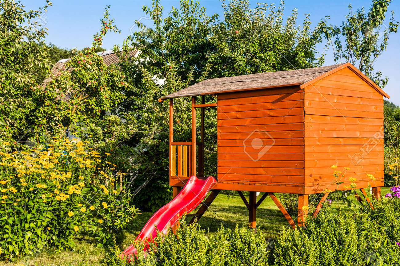 Kids House In The Garden Playhouse Cottage For Children S Play