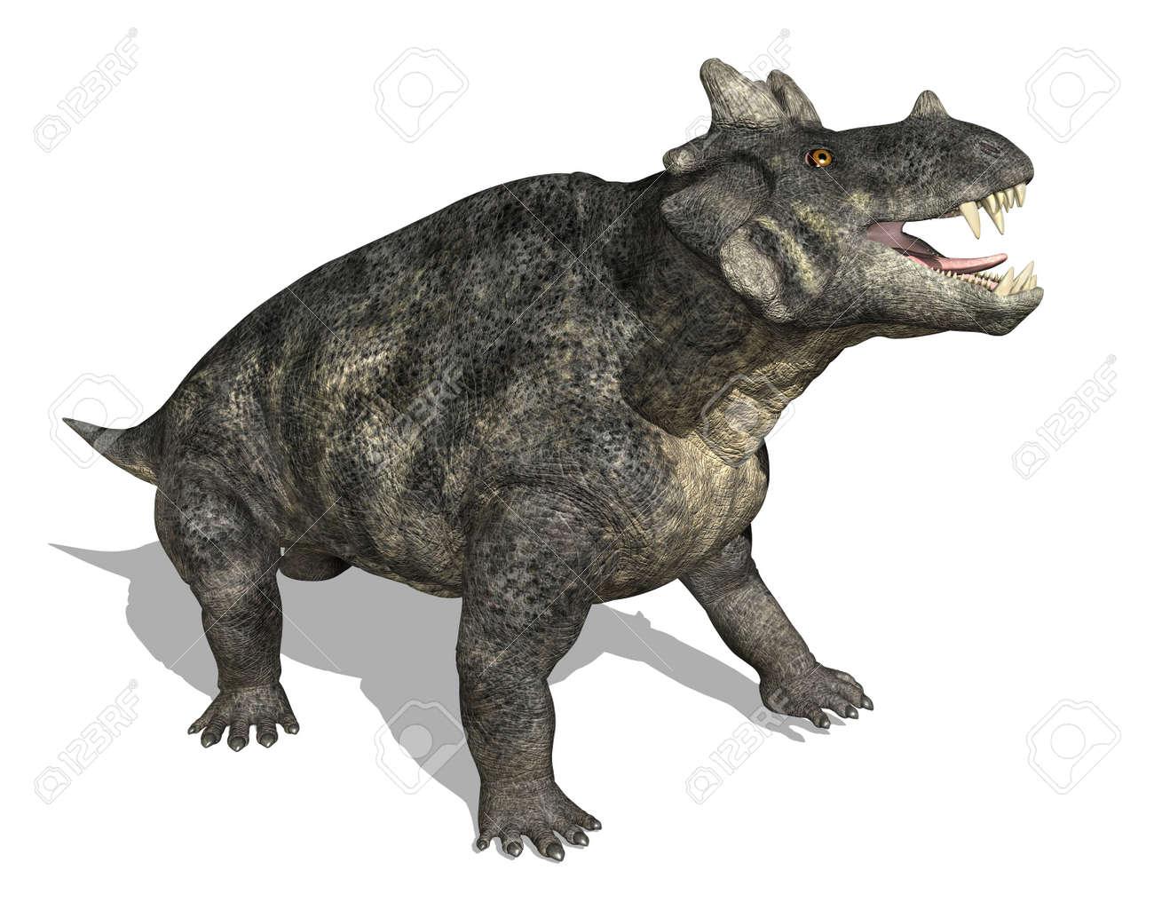 Estemmenosuchus 恐竜 (theraps...