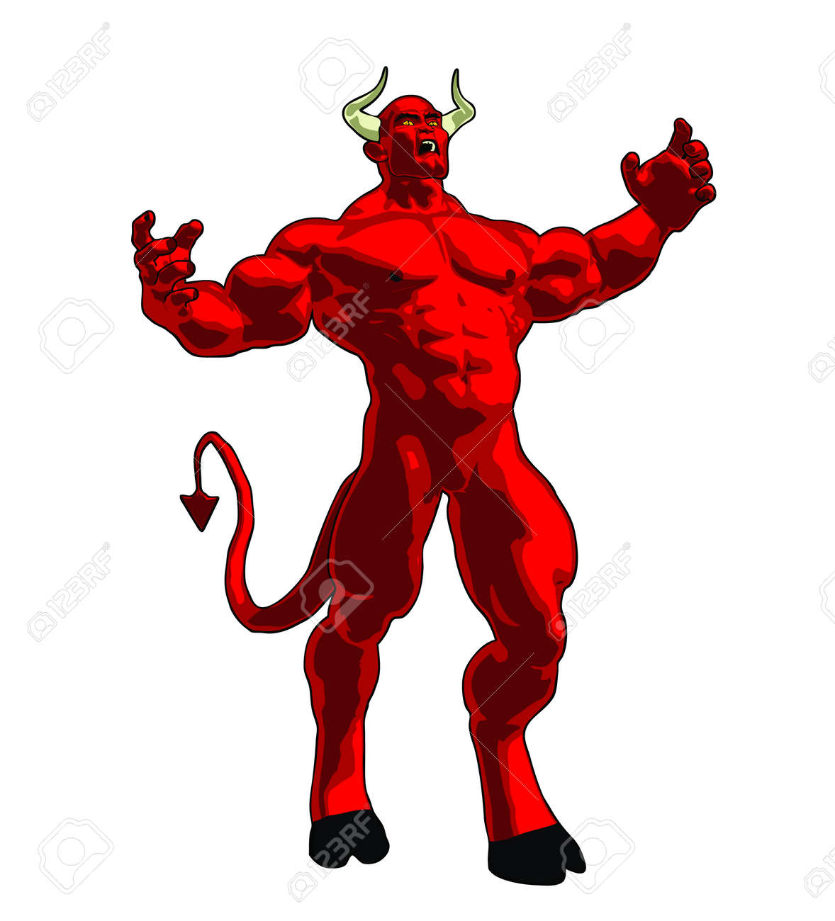 An Enraged Angry Demon. Royalty Free Cliparts, Vectors, And Stock ...