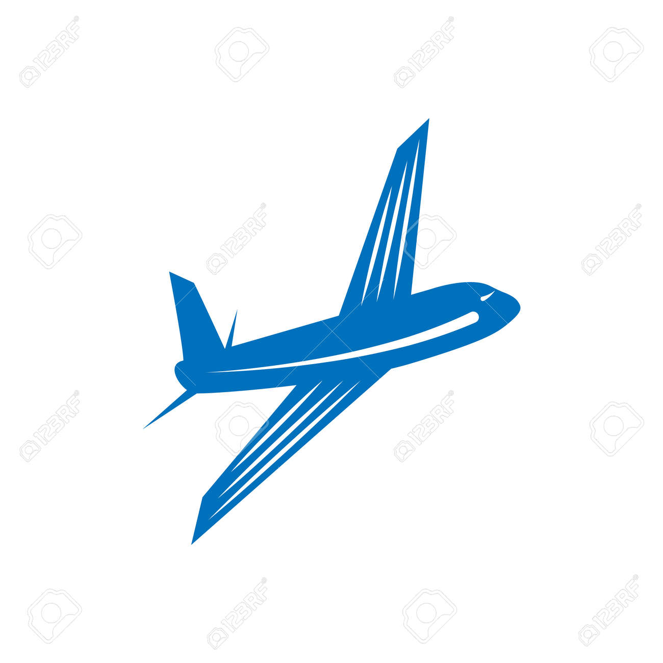 airplane vector design element logo travel agency concept royalty