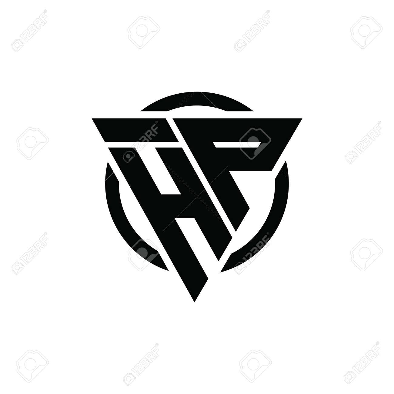 Hp Ph Triangle Logo Circle Monogram Design Vector Super Hero Royalty Free Cliparts Vectors And Stock Illustration Image 136668672