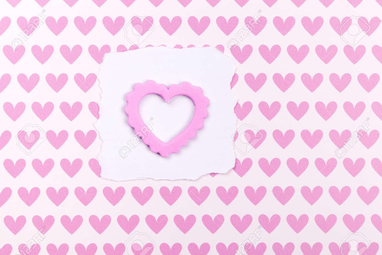 Fotorahmen Oder Geschenkkarte Mit Valentines Herzförmige Band über ...