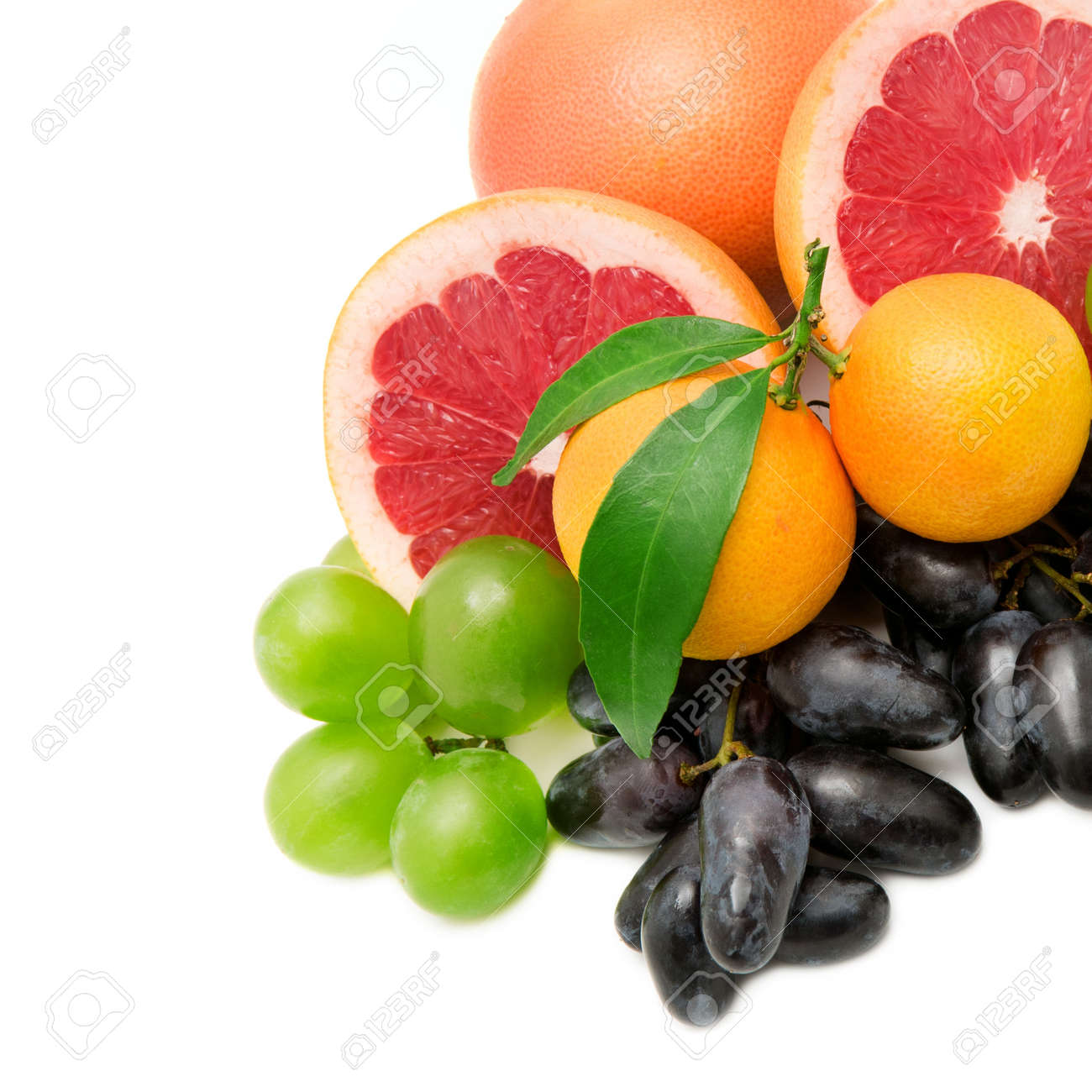 set of fruits and berries isolated on a white background Stock Photo - 15441654