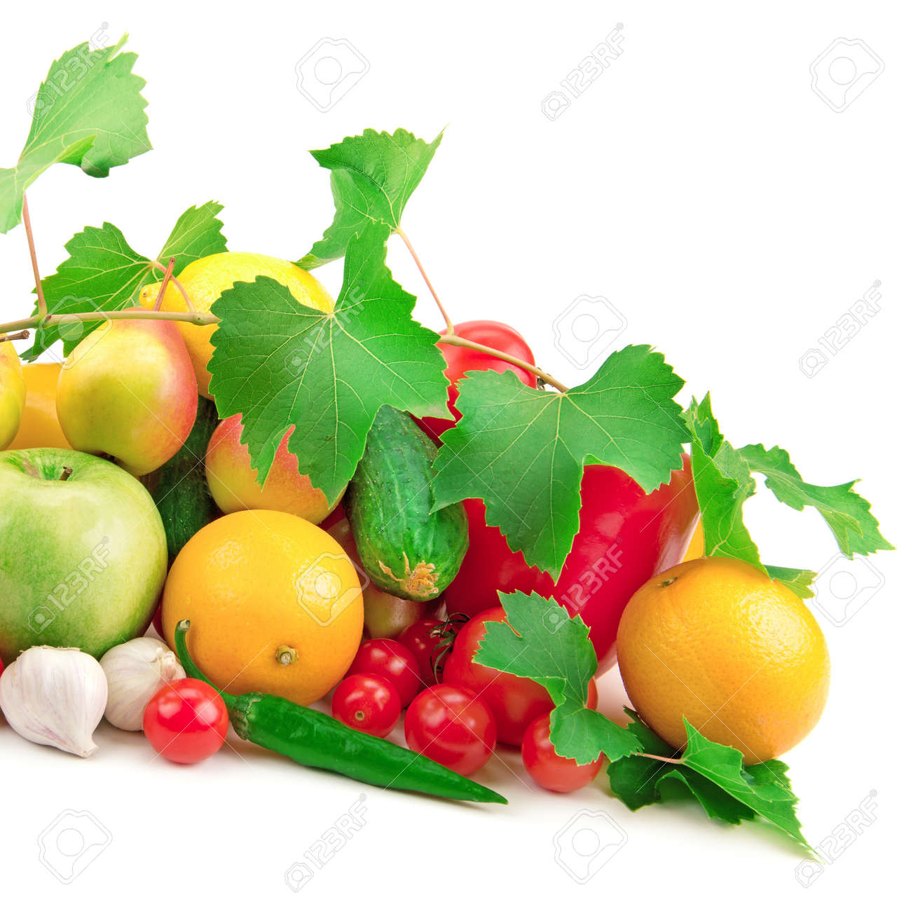 composition of fruits and vegetables Stock Photo - 16986755