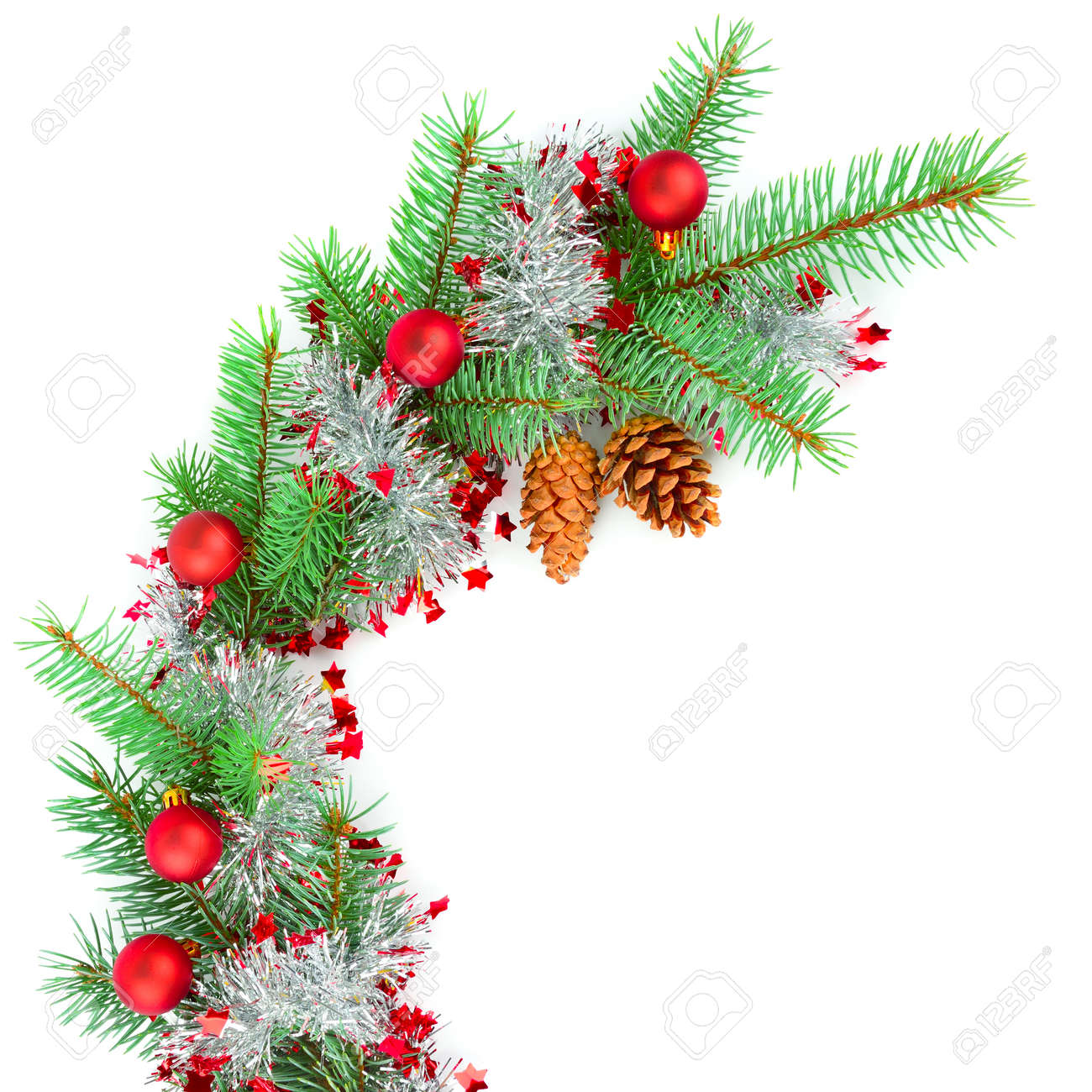 Christmas decor Isolated on a white background. Free space for text. - 141408539