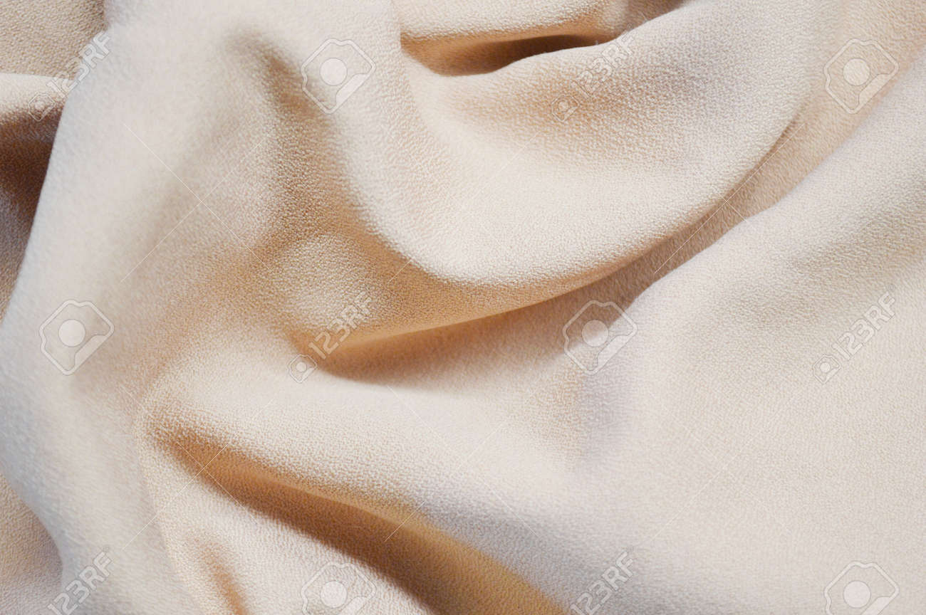 Light pink textile pattern as a background. Close up on Light pink material texture on fabric. crumpled fabric texture - 167333793