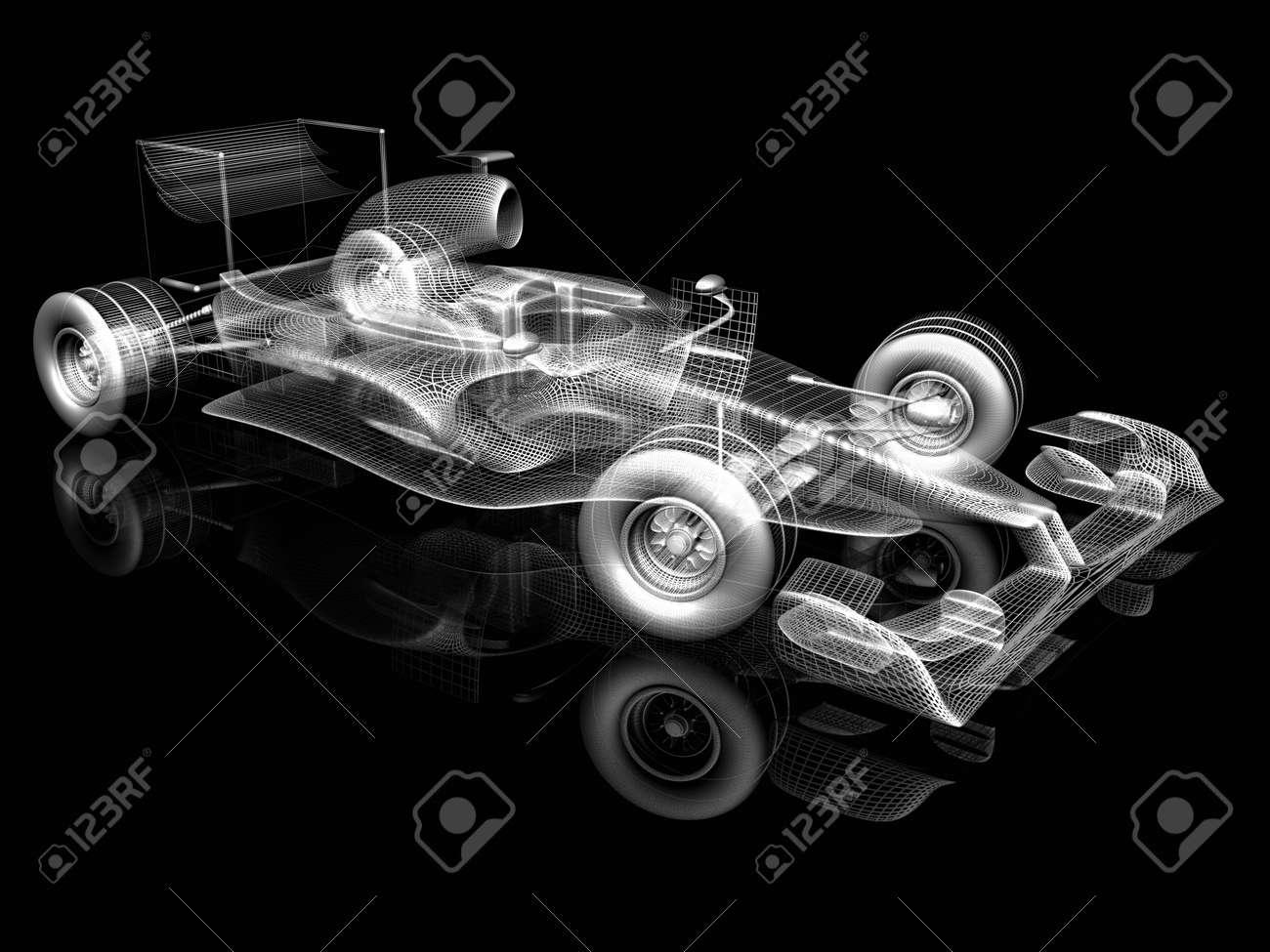 3d car Stock Photo - 13919858