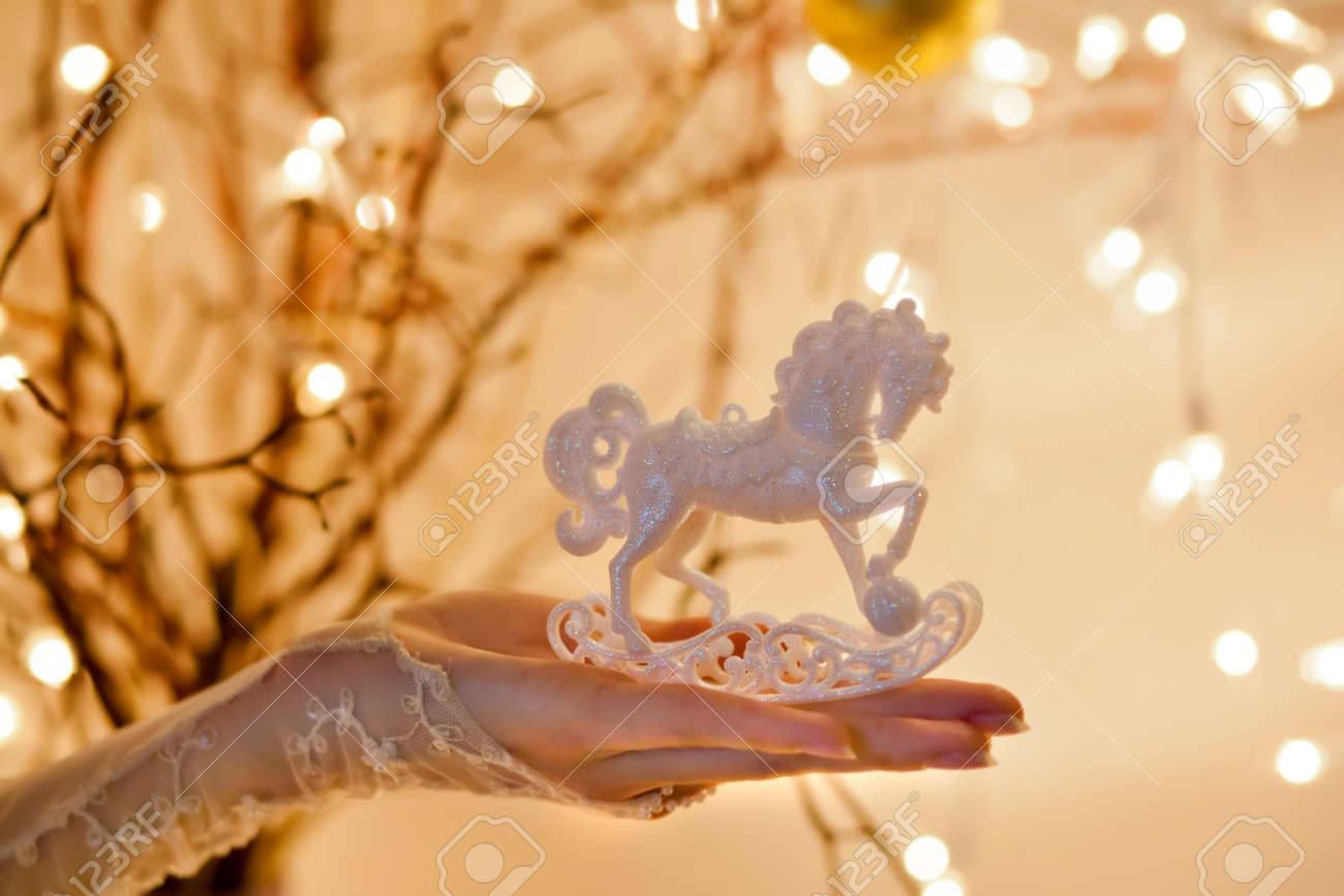Christmas Rocking Horse Ornament Stock Photo Picture And Royalty Free Image Image 16211991