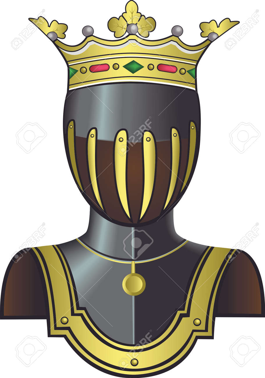 medieval knight head in helmet as a logo for coat of arms vector rh 123rf com Knights Logo Clip Art black knight head logo