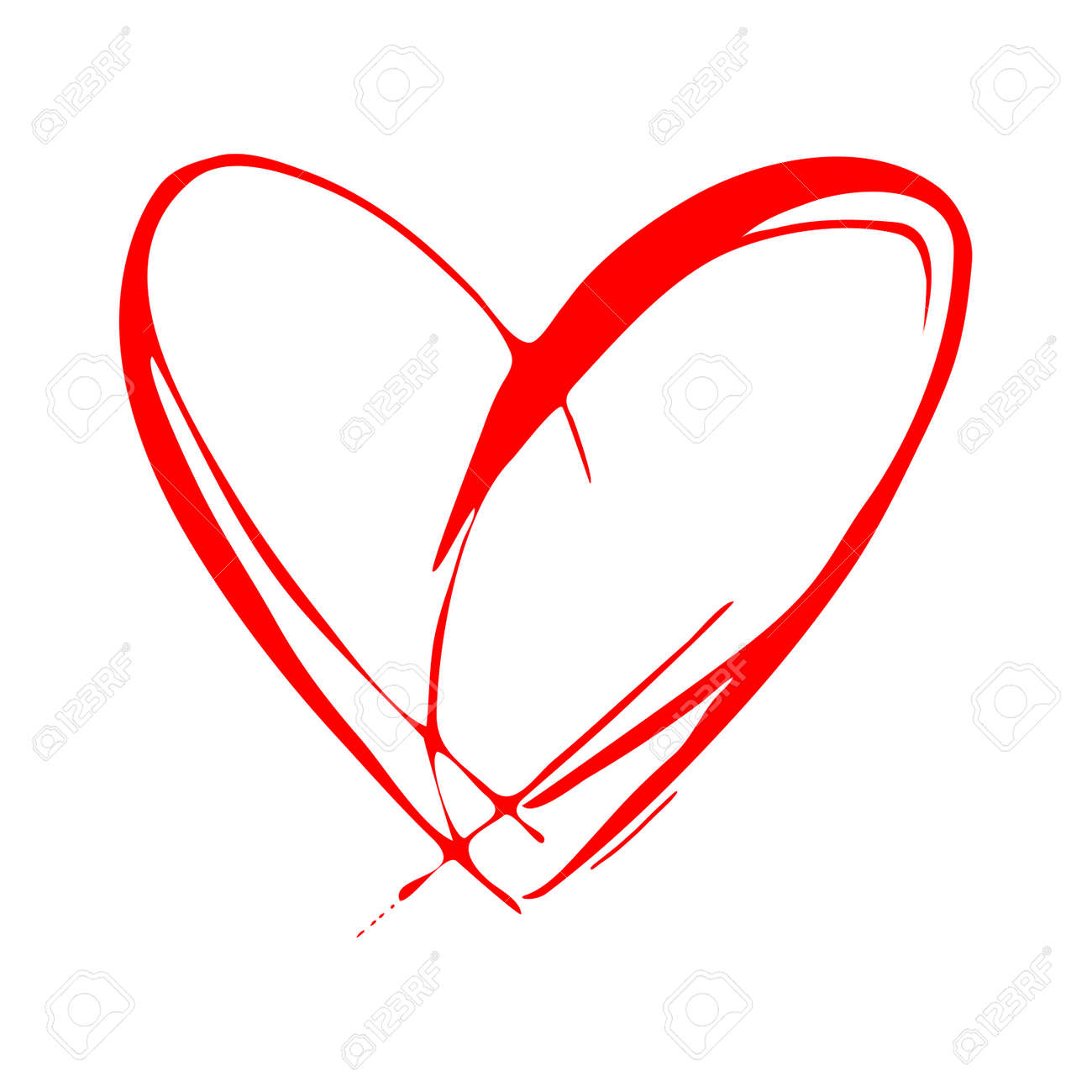 red heart vector icon love symbol valentines day sign emblem rh 123rf com heart vector black heart vectors for corel draw