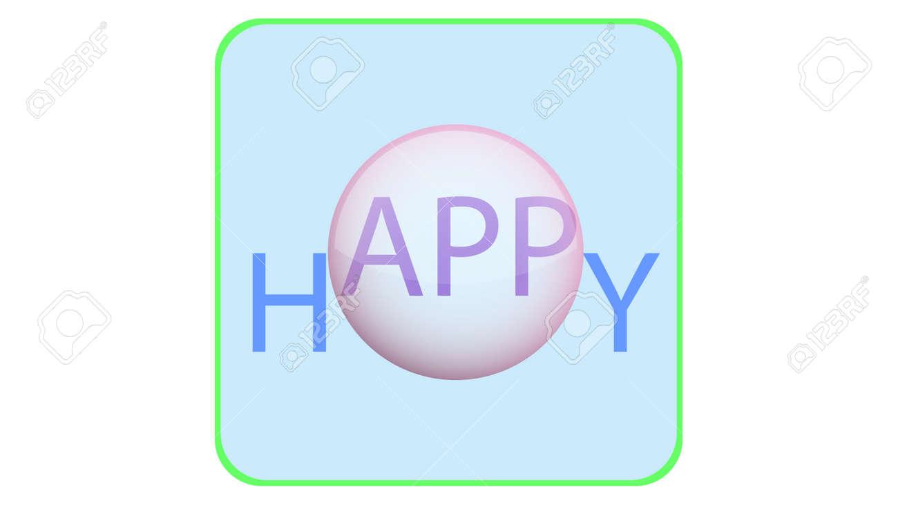 App icon vector design. Happy app, application icon - 169438837