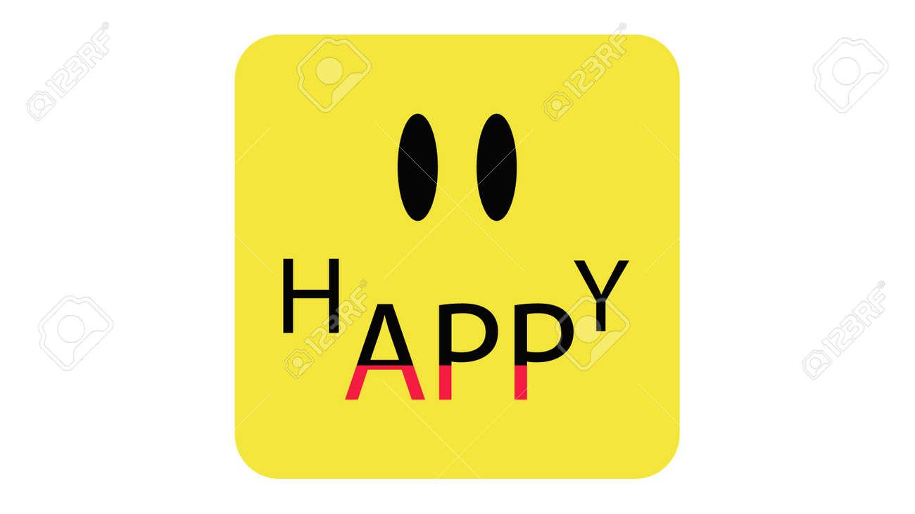 App icon vector design. Happy app, application icon - 169438858