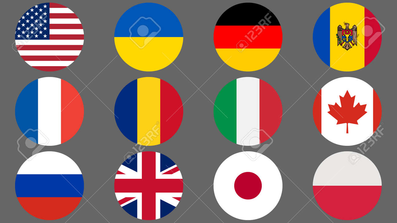 Set of flags of different countries made in icon design - 169438672