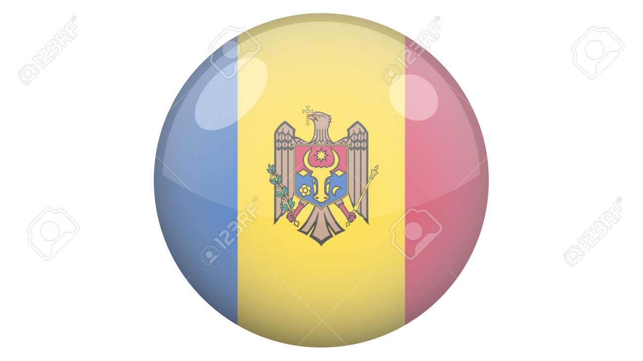 National flag of Moldova in icon design. Moldovan flag vector - 169438681