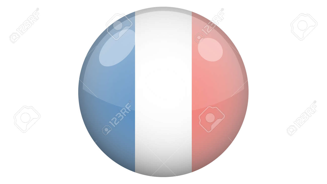 National flag of France in icon design. French flag vector - 169438684