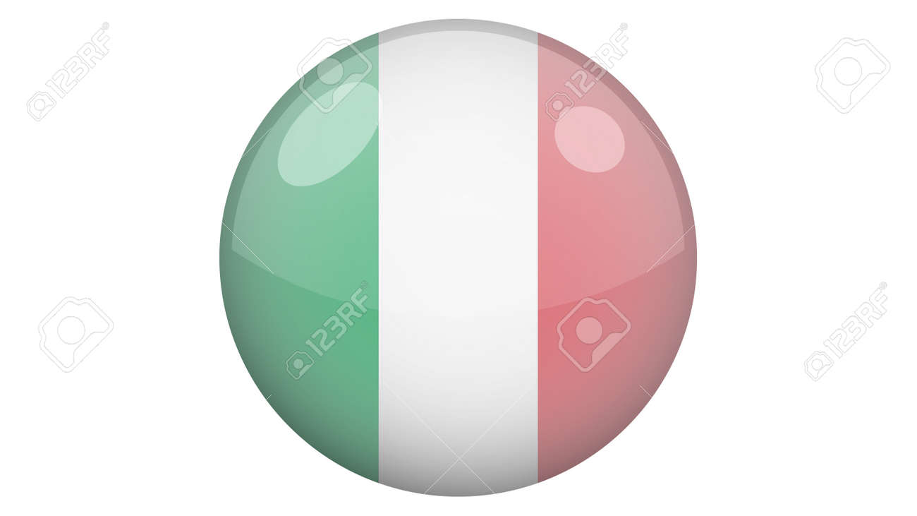 National flag of Italy in icon design. Italian flag vector - 169438685
