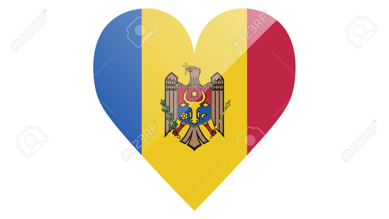 National flag of Moldova in icon design. Moldovan flag vector - 169438686