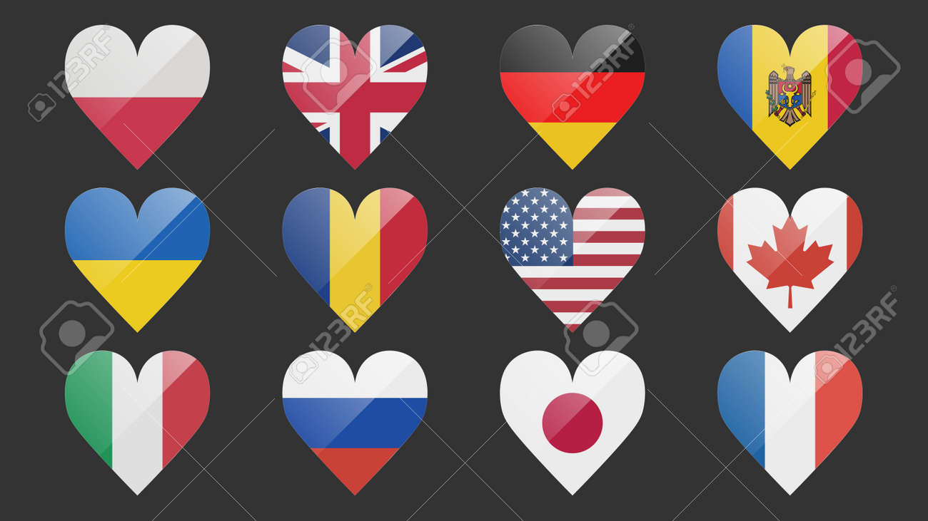 Set of flags of different countries made in icon design - 169438689