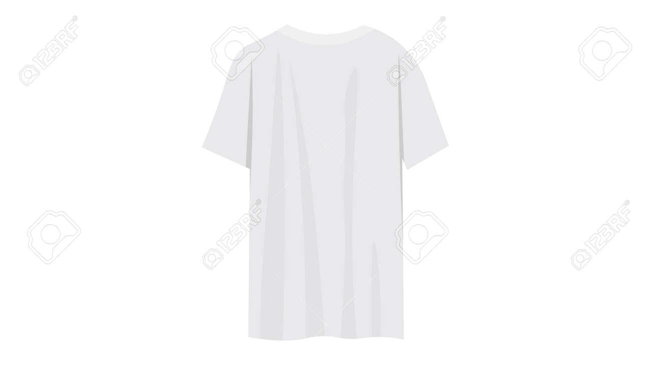 White t-shirt vector. Caplsule wardrobe 2021 vector design. - 169438740