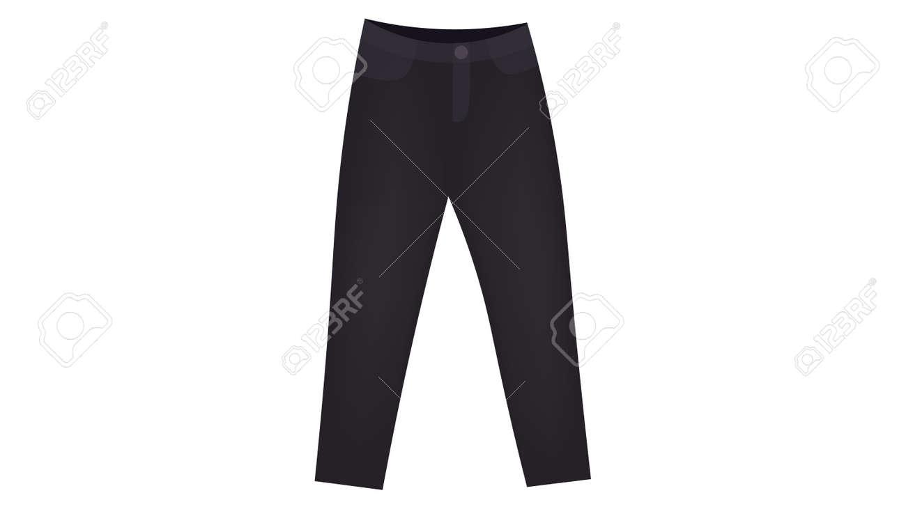 Dark-grey mom jeans vector. Caplsule wardrobe 2021 vector design. - 169438967