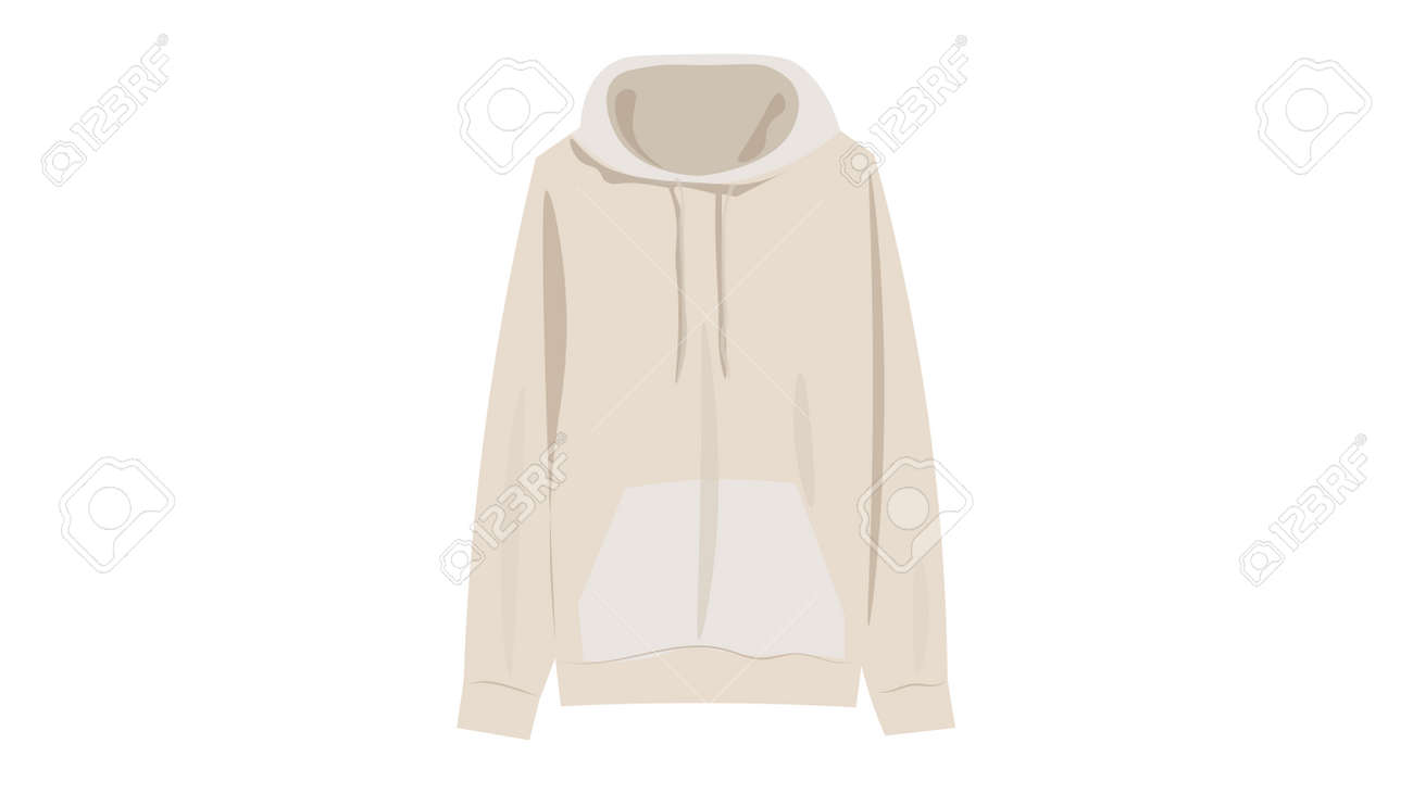 Beige hoodie vector. Caplsule wardrobe 2021 vector design. - 169438977