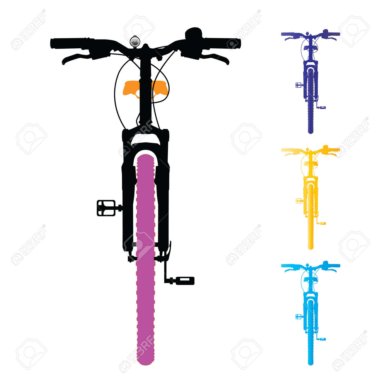 Mountain bike isolated. Front view. Vector, illustration. Stock Vector - 45514581