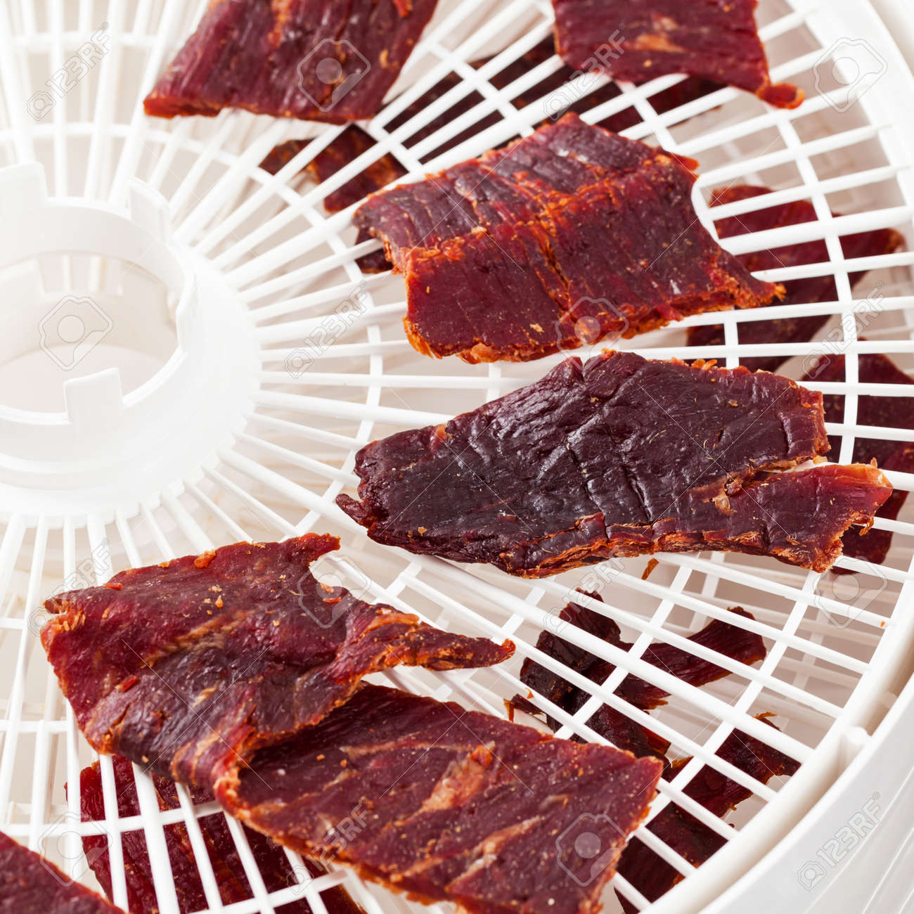 Homemade Beef Jerky With A Dehydrator Selective Focus