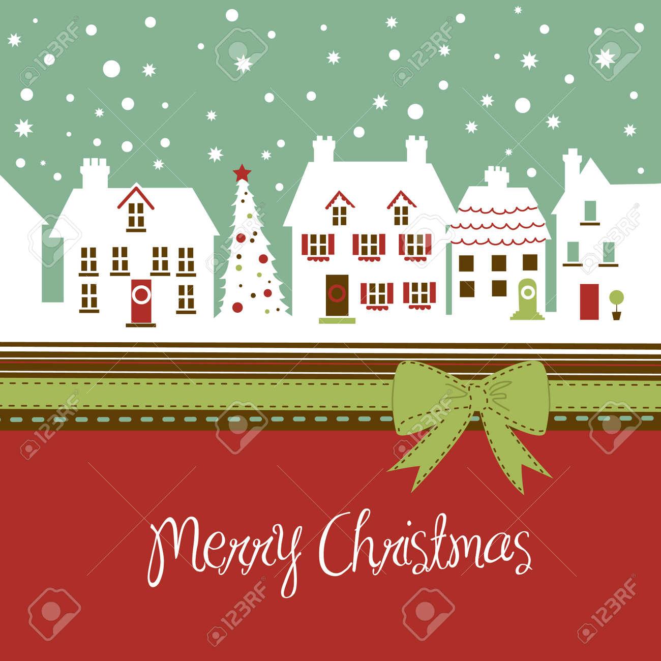 Foto Carine Di Natale.Cartolina Di Natale Citta Carina A Natale Tempo