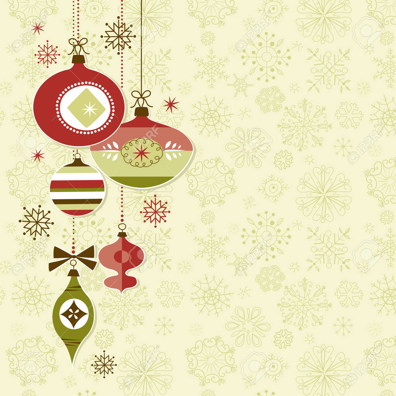 Retro Christmas Ornaments Royalty Free Cliparts, Vectors, And ...