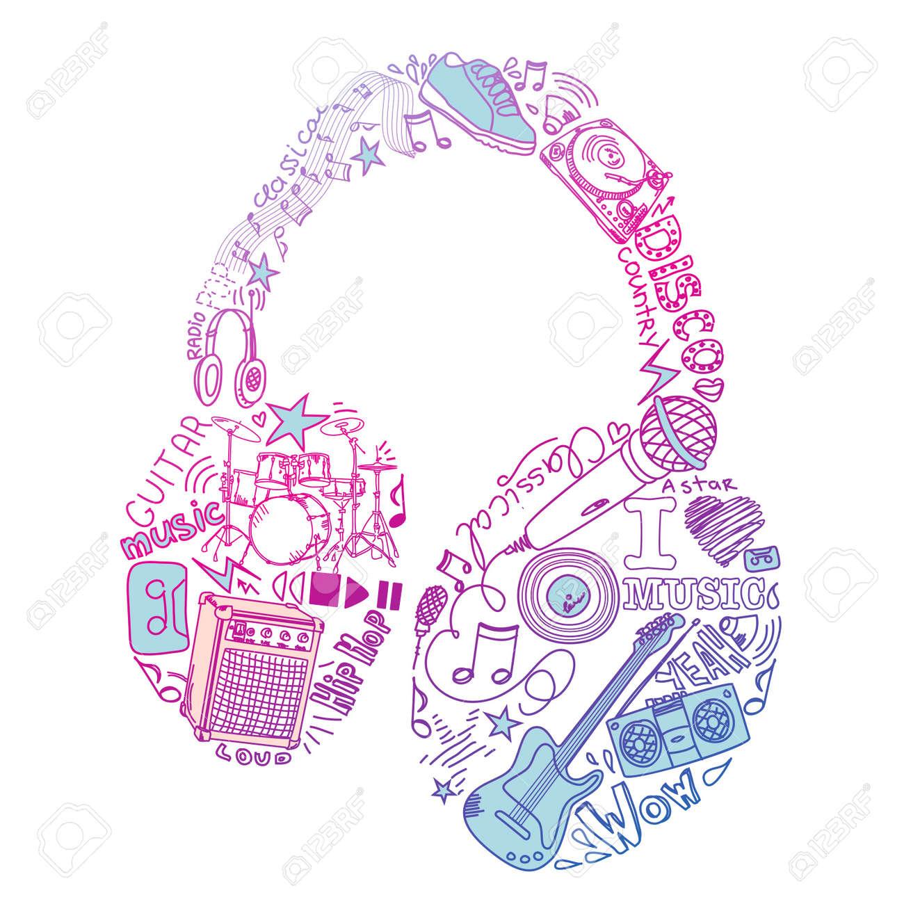 Music Doodles Stock Vector - 11157991