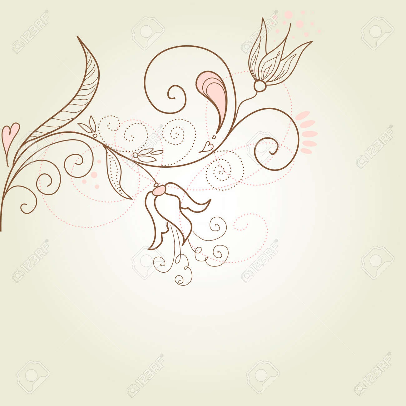 Floral greeting card Stock Vector - 11150557