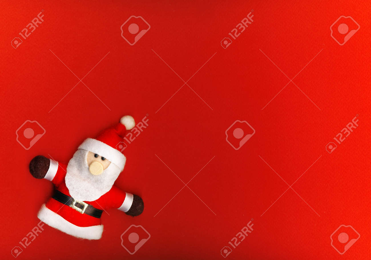 Santa Claus on the red background Stock Photo - 11563720