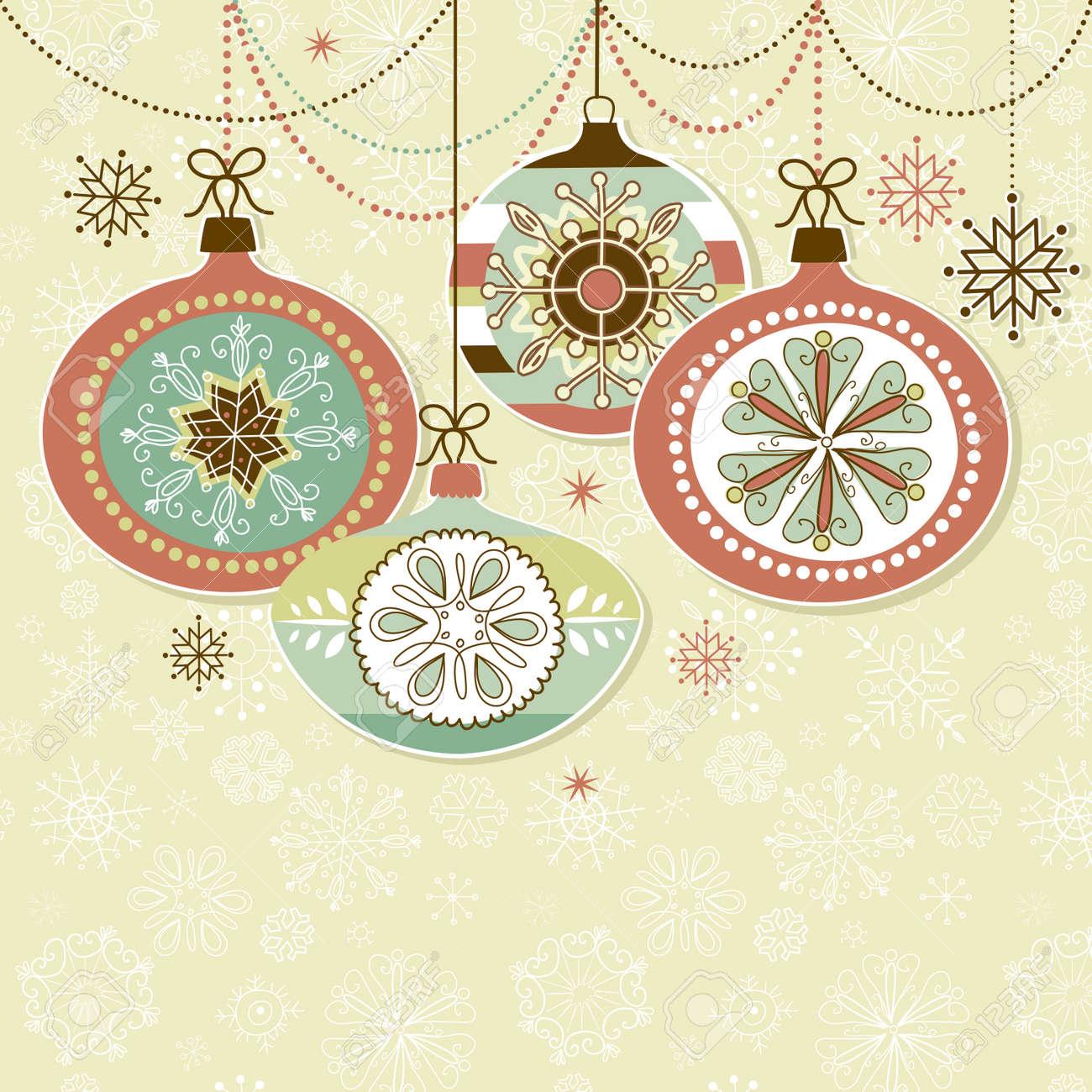 Retro Christmas Ornaments Royalty Free Cliparts, Vectors, And ...