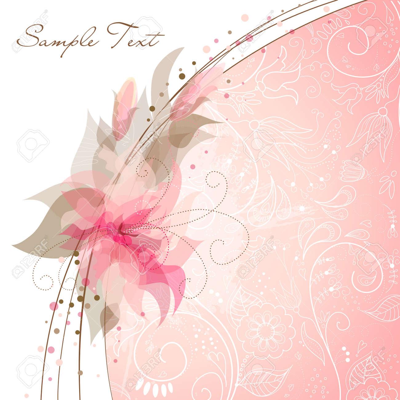 Romantic Flower Background Stock Vector - 12494221