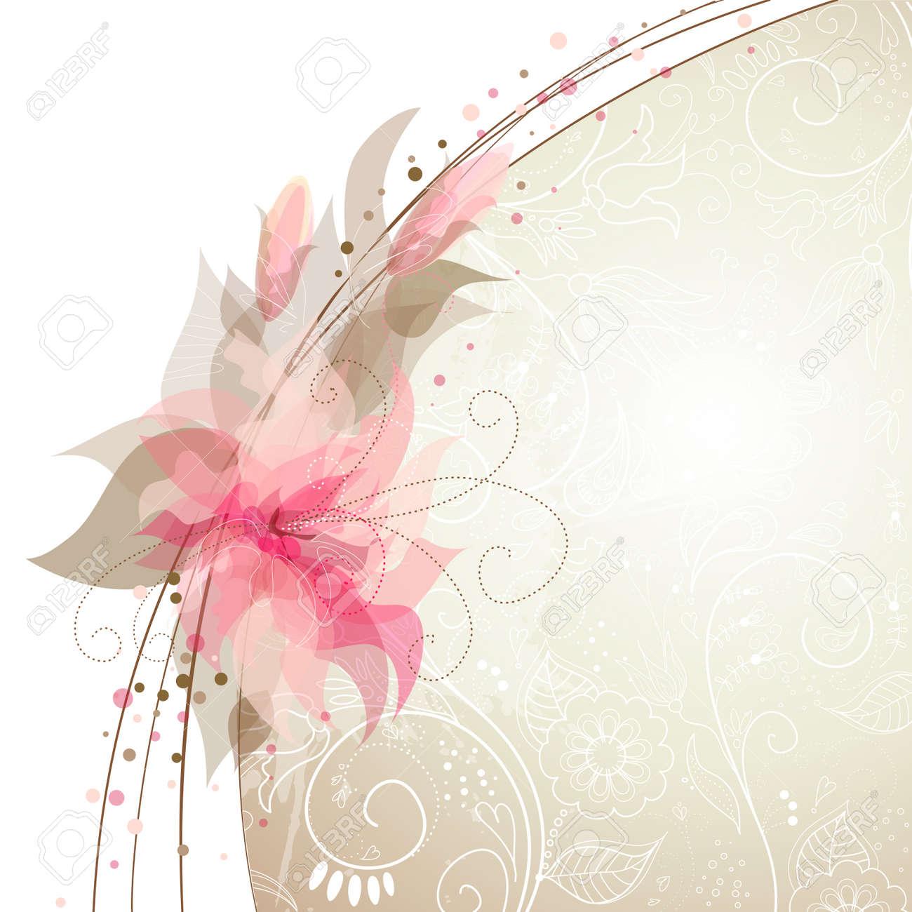 Romantic Flower Background Stock Vector - 12494210