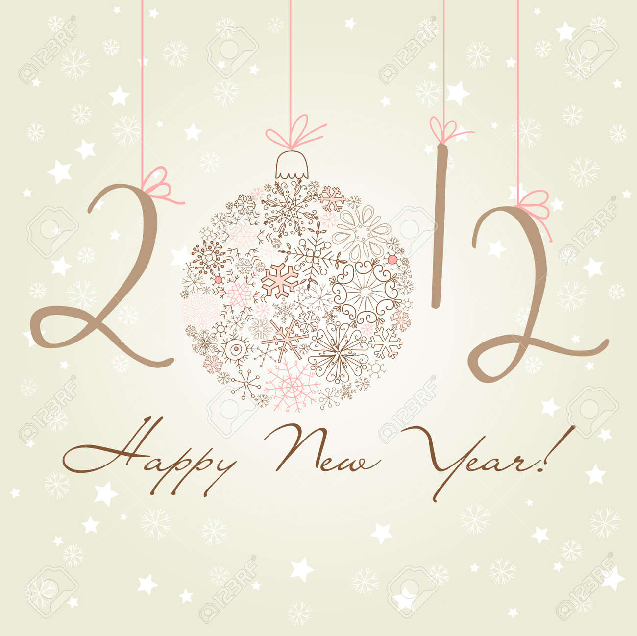 2012 Happy New Year background. Stock Vector - 12494183