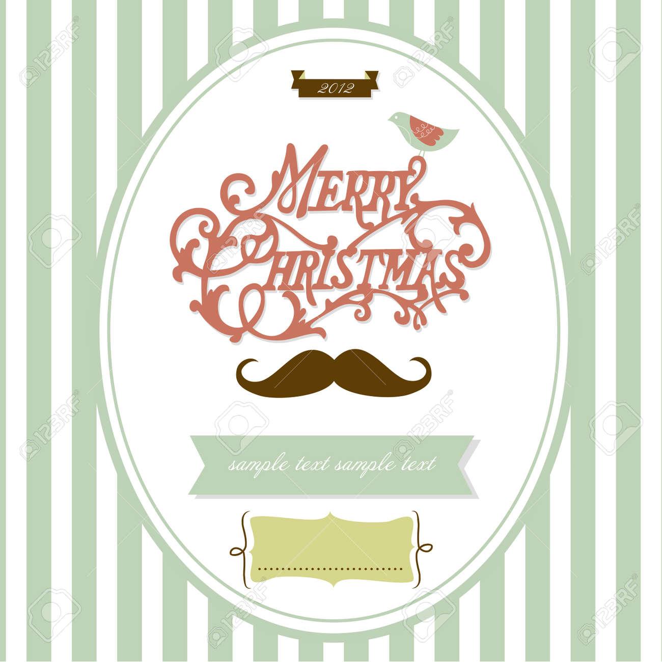 Vintage Christmas template Stock Vector - 12494075