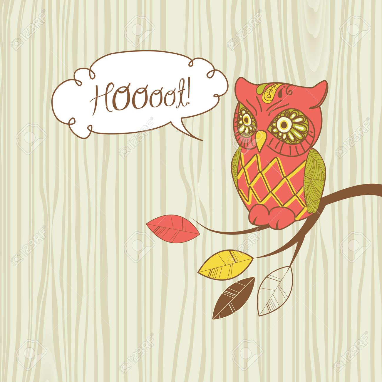 Cute Vector Owl. Stock Vector - 13339749