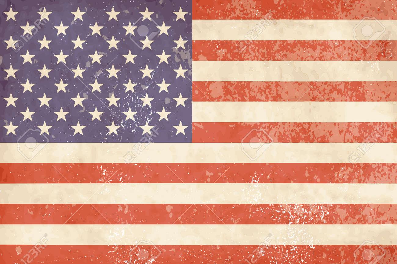 Vintage American flag - 13339829