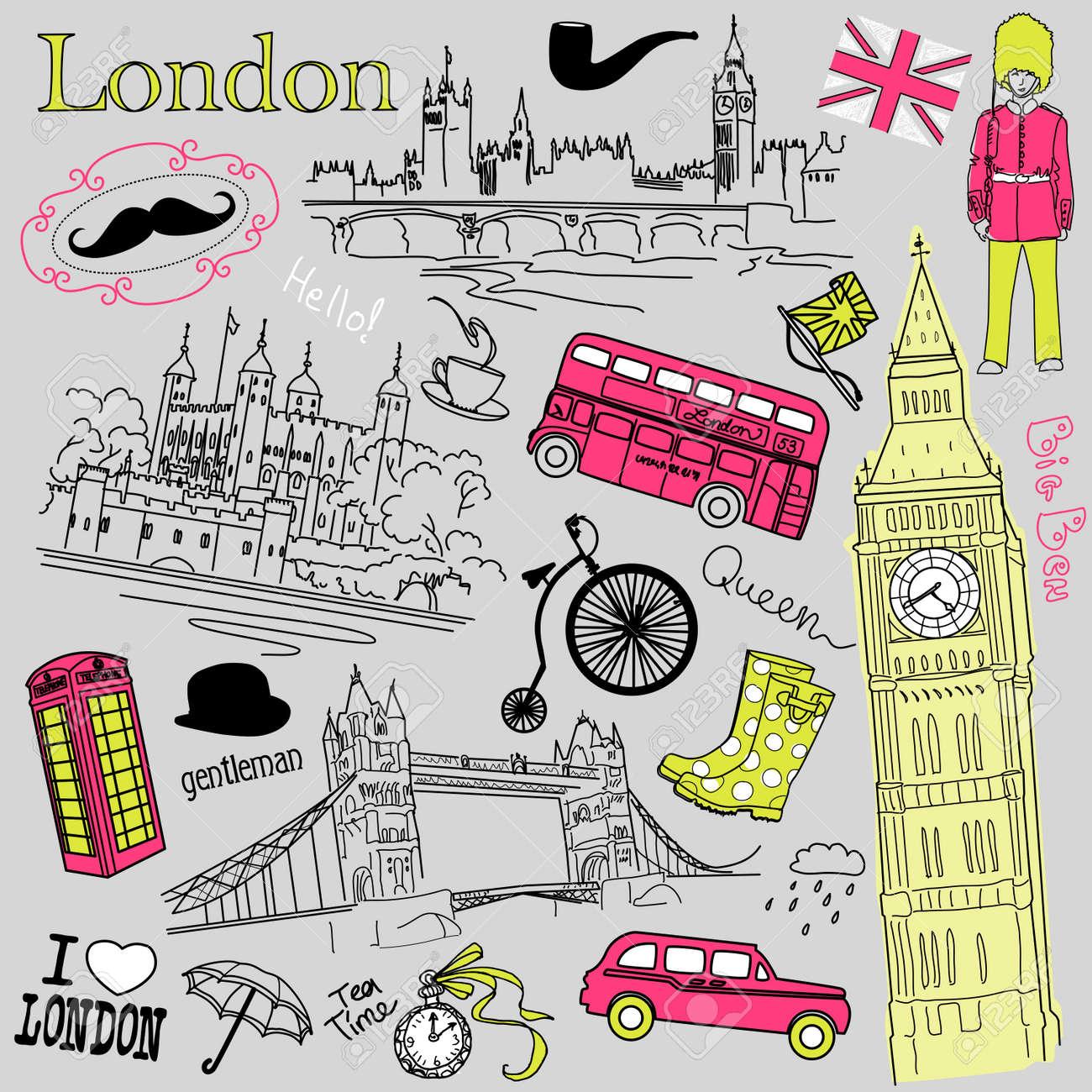 London doodles Stock Vector - 14255126