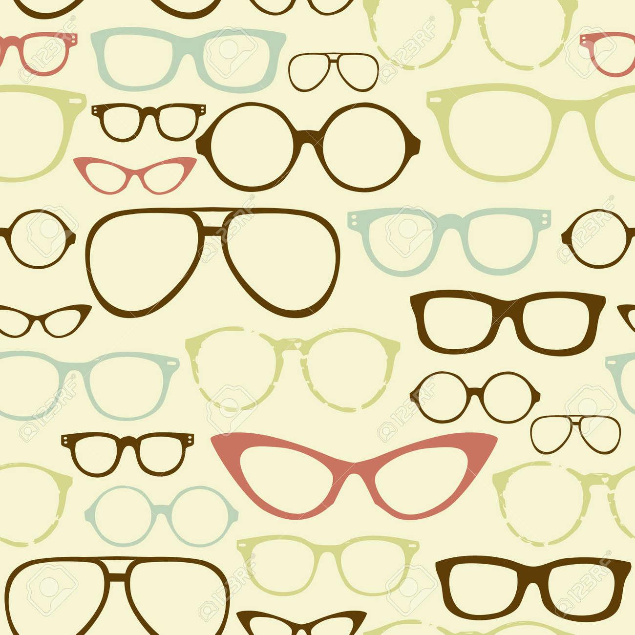 Retro Seamless spectacles Stock Vector - 14255024