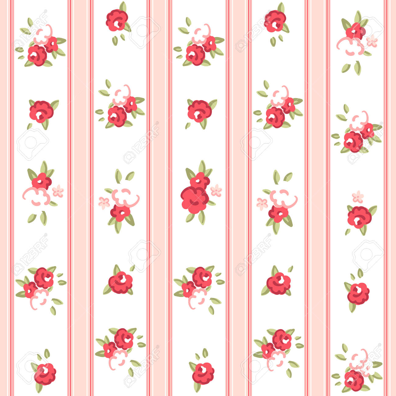 Vintage Rose Wallpaper Vector Vintage Rose Pattern