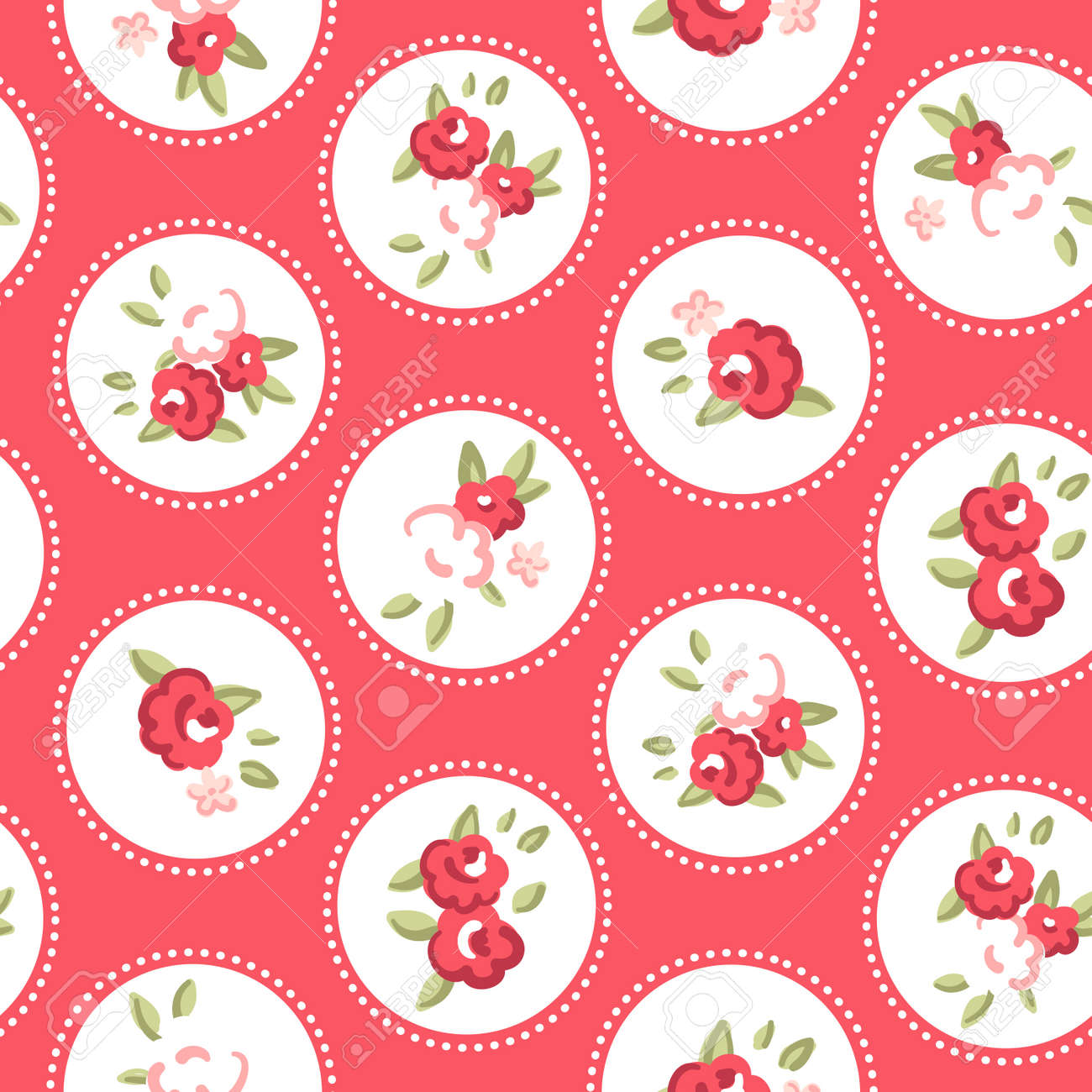 Vintage Rose Pattern Seamless Retro Rose Wallpaper Royalty Free Cliparts Vectors And Stock Illustration Image 14255091