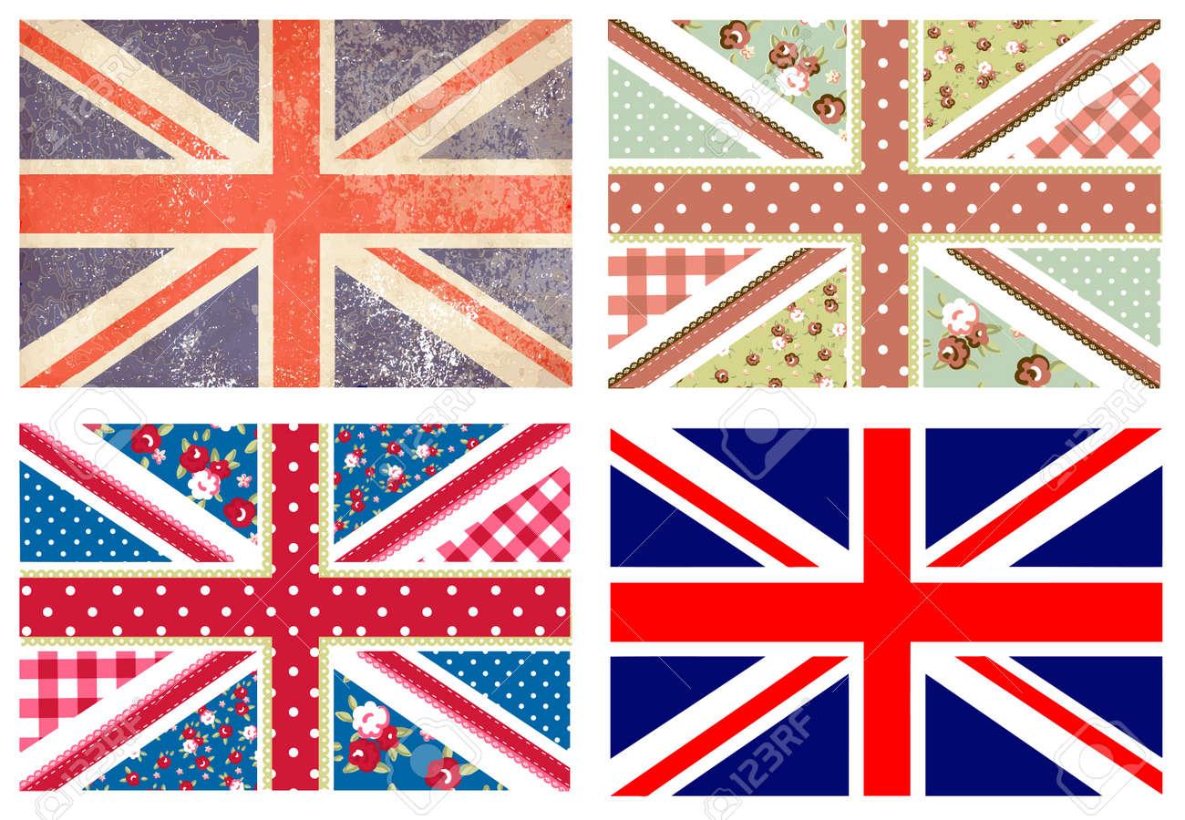 Vintage British Flag Wallpaper 4 Cute British Flags in Shabby
